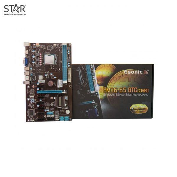 Combo Main - CPU Onboard Pentium Esonic HM76-C3 - 8 Slot VGA