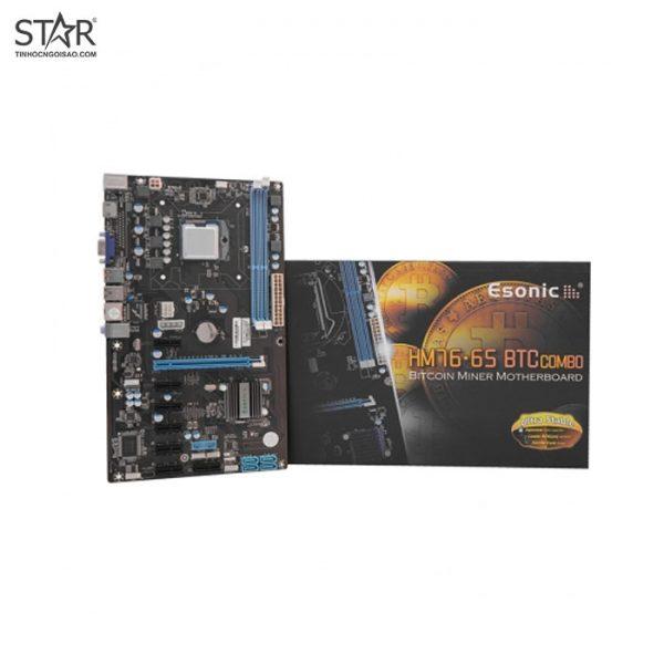 Combo Main - CPU Onboard Pentium Esonic HM76-P3 - 8 Slot VGA