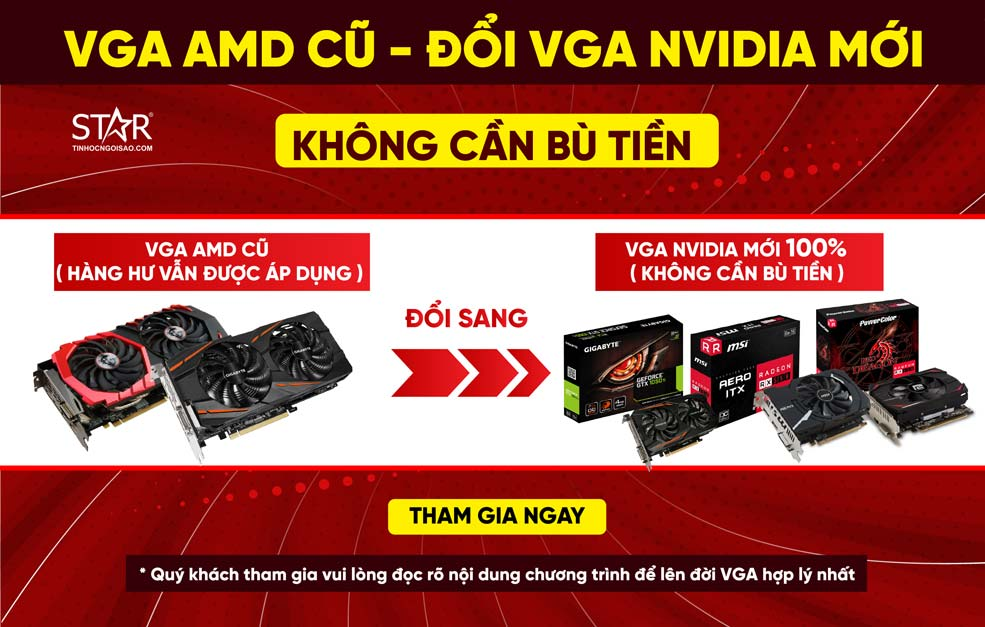 VGA AMD Cũ - Đổi VGA Nvidia Mới