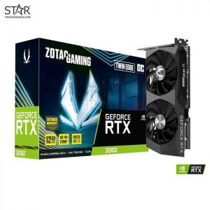 VGA Zotac RTX 3060 12G GDDR6 Gaming Twin Edge OC